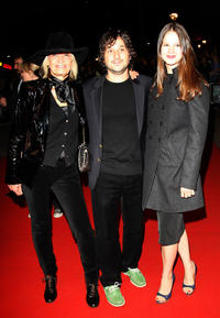 Anita Pallenberg, director Harmony Korine and Rachel Korine at the premiere of