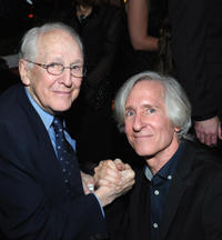 William Schallert and director Mick Garris at the premiere party of