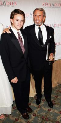 Roy Scheider and his son Christian Scheider at the Stella by Starlight gala at the Pierre hotel.