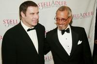 Roy Scheider and John Travolta at the Stella by Starlight honours gala benefitting the Stella Adler Studio of Acting.