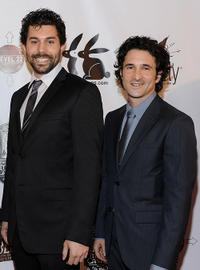 Micah Sloat and producer Steven Klein at the California premiere of