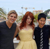 Chris Zylka, Nicole LaLiberte and Gregg Araki at the photocall of