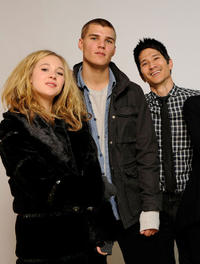 Juno Temple, Chris Zylka and Greg Araki at the Sundance Film Festival in Utah.