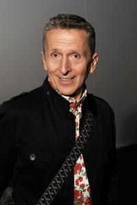 Simon Doonan at the Mercedes-Benz Fashion Week.