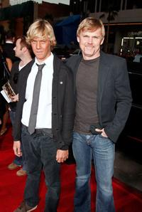 Luke and Rick Schroder at the premiere of