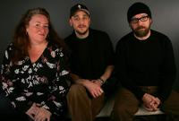 Rusty Schwimmer, Julian Goldberger and Paul Giamatti at the 2006 Sundance Film Festival.