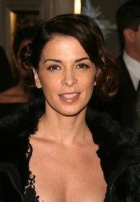 Annabella Sciorra at the Van Cleef cocktail party to celebrate the launch of The Frivole Collection.