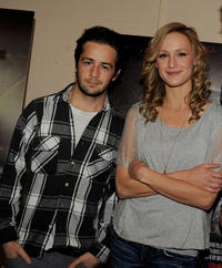 Michael Angarano and Kerry Bishe at the
