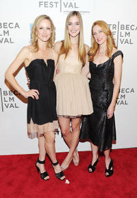 Kerry Bishe, Caitlin Fitzgerald and Marsha Dietlein Bennett at the after party of Tribeca Film Festival in New York.