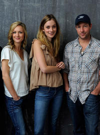 Kerry Bishe, Caitlin Fitzgerald and Edward Burns at the portrait session of Tribeca Film Festival 2011 in New York.