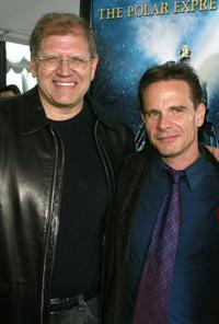 Director/producer Robert Zemeckis and Peter Scolari at the premiere of