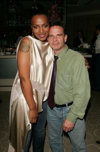 Peter Scolari and Nona Gaye at the afterparty for the premiere of