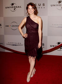 Ellie Kemper at the after party of NBC Universal's 68th Annual Golden Globes.