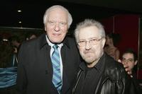 Angus Scrimm and Director Tobe Hooper at the launch party of