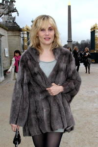 Emmanuelle Seigner at the Celine Fall Winter 2008/09 fashion show.