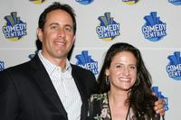 Jerry Seinfeld and Melanie Roy-Friedman at Comedy Central special screening of