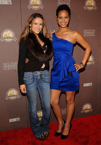 Chrishell Stause and Shannon Kane at the premiere of Milton Hershey School Documentary in New York.