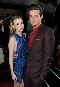 Emma Roberts and Nico Tortorella at the California premiere of