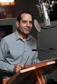 Tony Shalhoub on the set of