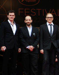 Viktor Tremmel, Michael Fuith and Markus Schleinzer at the France premiere of
