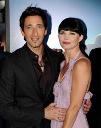 Adrien Brody and Delphine Chaneac at the premiere of