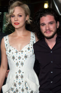 Adelaide Clemens and Kit Harington at the California premiere of