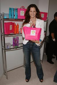 Ally Sheedy at the Herbal Essence booth at the VMA Style Villa at the Bryant Park Hotel.
