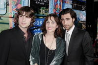 Robert Schwartzman, Talia Shire and Jason Schwartzman at the premiere of