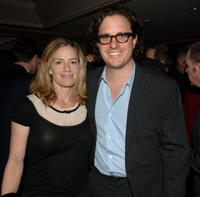 Elisabeth Shue and her husband Davis Guggenheim at the cocktail reception prior to the 32nd Annual LA Film Critic's Association Awards.