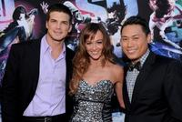 Rick Malambri, Sharni Vinson and Jon M. Chu at the world premiere of