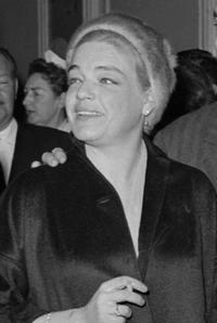 Simone Signoret at the screening of