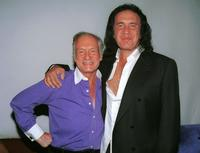 Gene Simmons and Hugh Hefner at the Tongue Magazine Fall 2002 Issue release party.