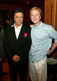 Gene Simmons and Matthew Modine at the party for Simmons and his new book