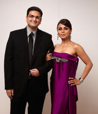 Director Anurag Singh and Rani Mukerji at the 2009 Toronto International Film Festival in Canada.
