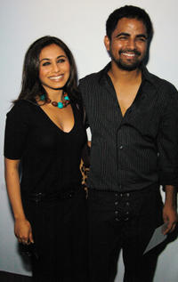 Rani Mukerji and designer Sabyasachi at the Sabyasachi Spring 2007 fashion show during the Olympus Fashion Week in New York City.