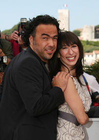Alejandro Gonzalez Inarritu and Maricel Alvarez at the photocall of