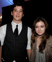 Miles Teller and Hayley McFarland at the Gen Art's 12th Annual Fresh Faces In Fashion.