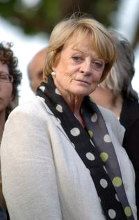 Maggie Smith at the unveiling of a statue of Sir Lawrence Olivier.