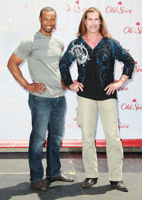 Isaiah Mustafa and Fabio at the Old Spice's