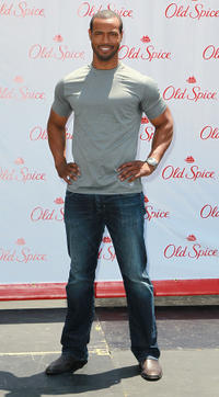 Isaiah Mustafa at the Old Spice's