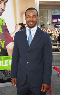 Isaiah Mustafa at the California premiere of