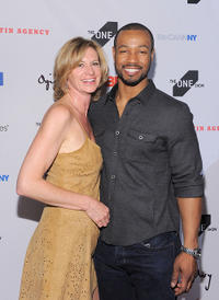 Birgit Schwarz-Hickey and Isaiah Mustafa at the 2011 One Show Interactive Awards in New York.