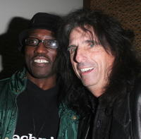 Wesley Snipes and Alice Cooper at the LA Confidential party.