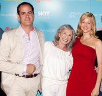 Producer David Nevins, Phyllis Somerville and Laura Linney at the Showtime with The Cinema Society screening of