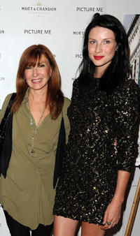 Designer Nicole Miller and Caitriona Balfe at the