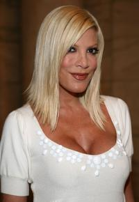 Tori Spelling at the Jill Stuart 2008 Fashion Show during the Mercedes-Benz Fashion Week Spring 2008.