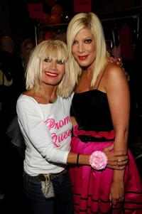 Tori Spelling and Betsey Johnson at the Betsey Johnson 2008 Fashion Show during the Mercedes-Benz Fashion Week Spring 2008.