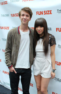Thomas Mann and Carly Rae Jepsen at the screening of