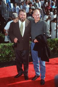Brian Blessed and Patrick Stewart at the Hollywood premiere of