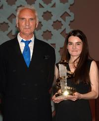 Terence Stamp and Actress Shirley Henderson at the closing ceremony Gala of Marrakesh International Film Festival 2005.